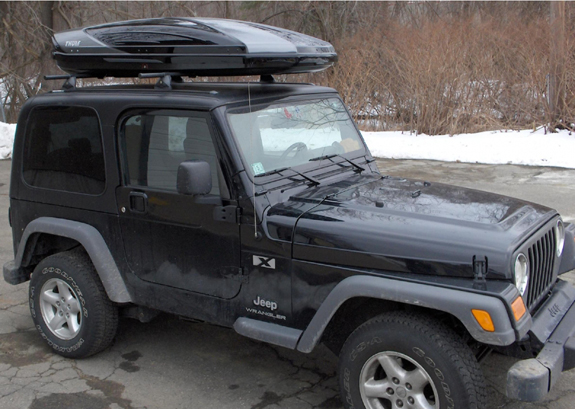 This is a custom 2006 Jeep Wrangler 2dr cargo box/cargo carrier roof rack system & Jeep Wrangler hard top Rack Installation Photos Aboutintivar.Com