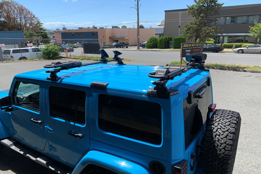 Jeep Wrangler JK Unlimited 4DR Camping installation