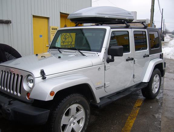 This Is A Custom 2007 Jeep Wrangler Unlimited 4dr Cargo Box/cargo Carrier  Roof Rack System (Rack Attack Vancouver)