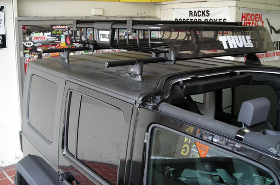 This Is A Custom 2007 Jeep Wrangler Unlimited 4dr Cargo Basket Roof Rack  System (Rack Attack Vancouver)