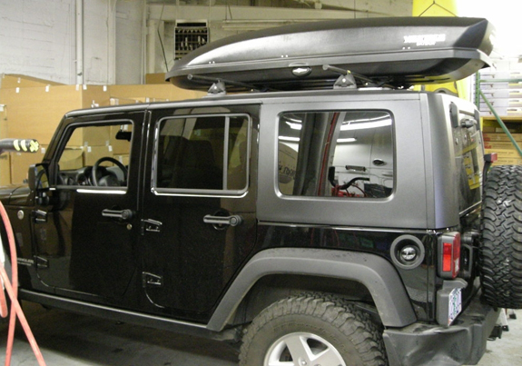 Delightful This Is A Custom 2008 Jeep Wrangler Unlimited 4dr Cargo Box/cargo Carrier  Roof Rack System (Rack Attack Vancouver)