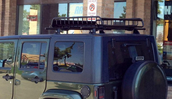 This Is A Custom 2012 Jeep Wrangler Unlimited 4dr Cargo Basket Roof Rack  System