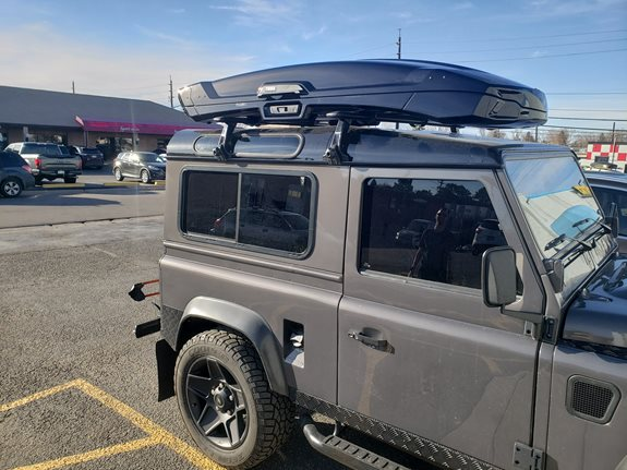 Land Rover Defender (High Roof) Cargo & Luggage Racks installation