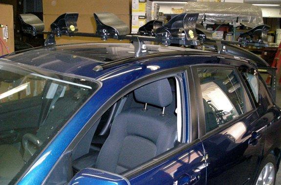 Diy Kayak Rack >> Mazda 3 5dr Rack Installation Photos