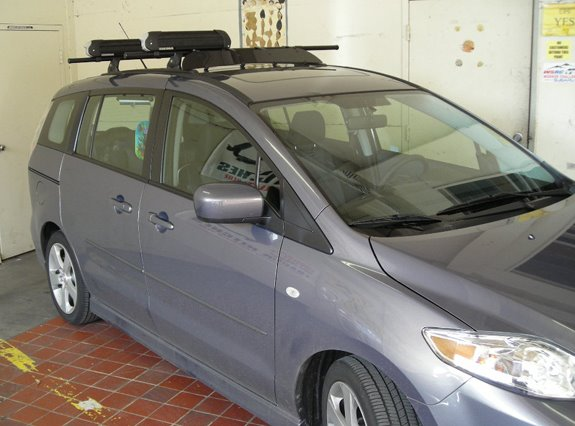 This Is A Custom 2006 Mazda 5 Ski Snowboard Roof Rack System
