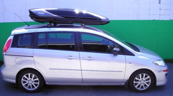 This Is A Custom 2009 Mazda 5 Cargo Box/cargo Carrier Roof Rack System.