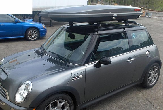 This Is A Custom 2005 Mini Cooper Cargo Box Carrier Roof Rack System