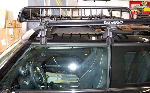 This Is A Custom 2005 Mini Cooper Cargo Basket U0026 Bike Roof Rack System.