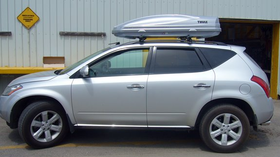 This is a custom 2005 Nissan Murano cargo box/cargo carrier roof rack system. & Nissan Murano Rack Installation Photos Aboutintivar.Com