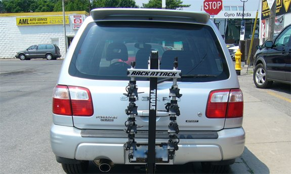 This Is A Custom 2008 Subaru Forester Hitch Mount Bike Rack System