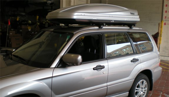 This Is A Custom 2008 Subaru Forester Cargo Box/cargo Carrier Roof Rack  System.