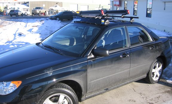This Is A Custom 2007 Subaru Impreza 4dr Ski U0026 Snowboard Roof Rack System.
