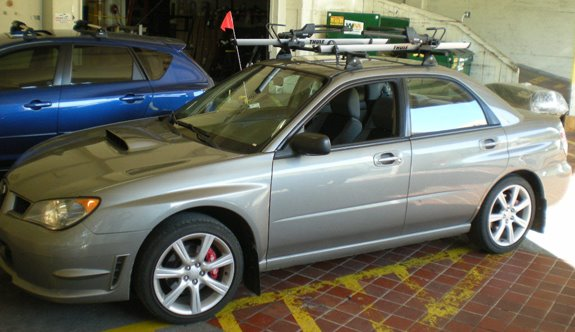 pack car thule sks installations subaru yakima impreza sidearm locks photos control towers roof rack crossbars wrx installation