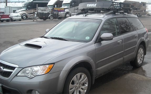 This Is A Custom 2009 Subaru Outback Wagon Cargo Basket Roof Rack System.