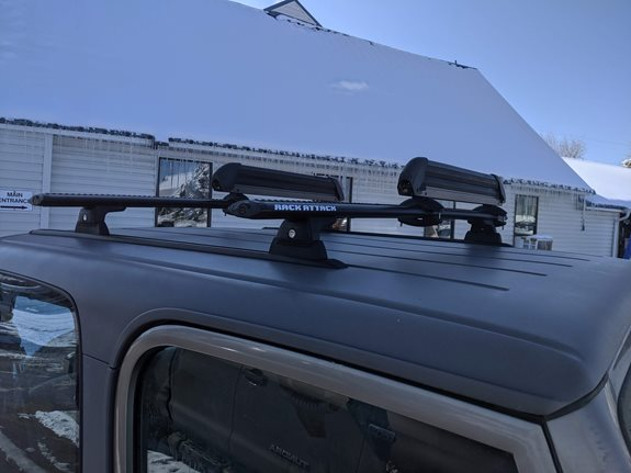 Jeep TJ Ski & Snowboard Racks installation