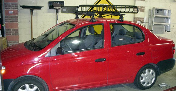 Toyota Echo 4dr Rack Installation Photos