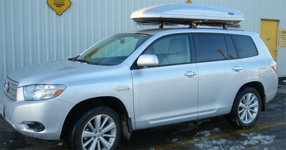 This Is A Custom 2008 Toyota Highlander Cargo Box/cargo Carrier Roof Rack  System.