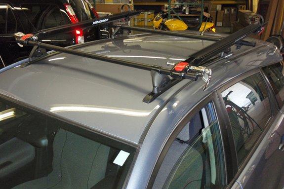Toyota Matrix Rack Installation Photos
