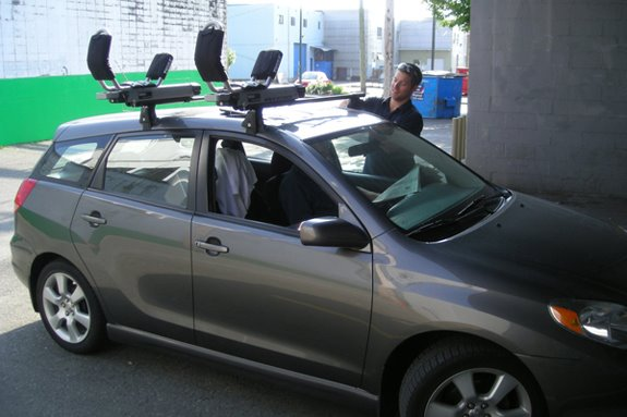 This Is A Custom 2006 Toyota Matrix Kayak Roof Rack System.