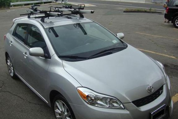 Delightful This Is A Custom 2009 Toyota Matrix Bike Roof Rack System.
