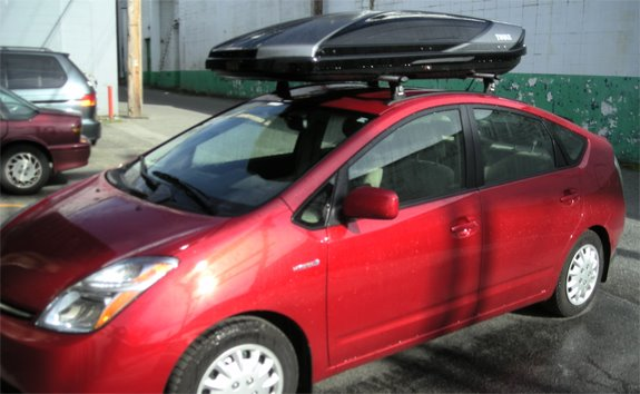 Beautiful This Is A Custom 2007 Toyota Prius Cargo Box/cargo Carrier Roof Rack System.