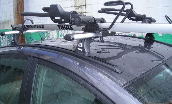 This Is A Custom 2007 Toyota Prius Bike Roof Rack System