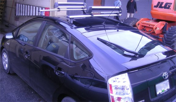 This Is A Custom 2009 Toyota Prius Ski Snowboard Roof Rack System