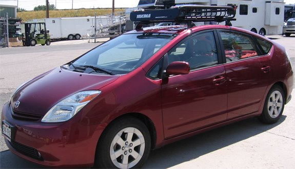 This Is A Custom 2009 Toyota Prius Cargo Basket Roof Rack System