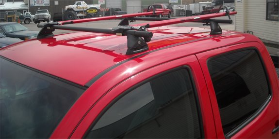 This Is A Custom 2002 Toyota Tacoma Double Cab Bike Roof Rack System.