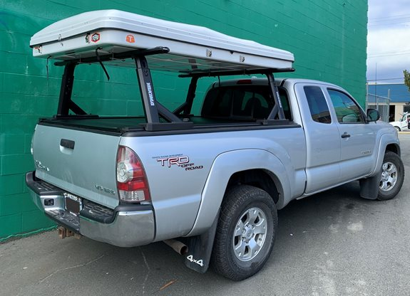 Toyota Tacoma std. Cab Adventure Racks installation