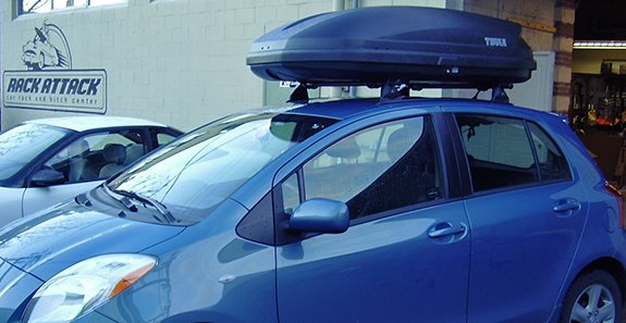 This is a custom 2009 Toyota Yaris 5dr cargo box/cargo carrier roof rack system. : roof box cargo carrier - Aboutintivar.Com