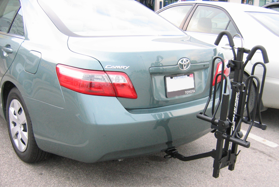2007 Toyota Camry 4dr hitch mount bike rack, Curt Trailer Hitch 12343, SportRack 2EZ Hitch Platform System