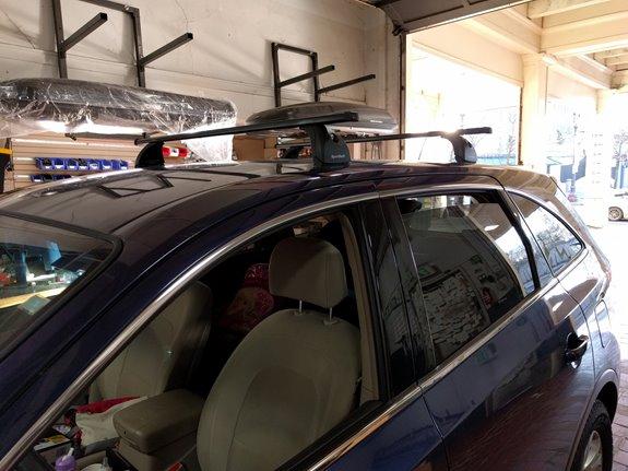 Hyundai Veracruz Rack Installation Photos