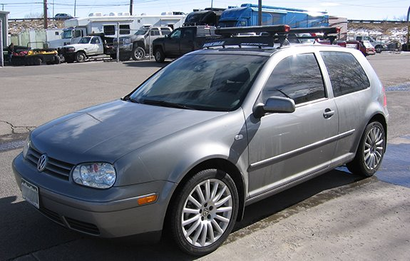 This Is A Custom 2004 VW GTI 3dr Ski U0026 Snowboard Roof Rack System.