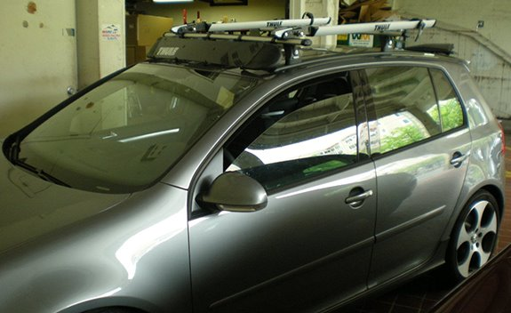 Superior This Is A Custom 2006 VW GTI 5dr Bike Roof Rack System.