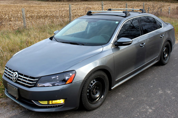 2012 Volkswagen Passat base roof rack, Whispbar S25 Base Rack, Whispbar Fit Kit K323