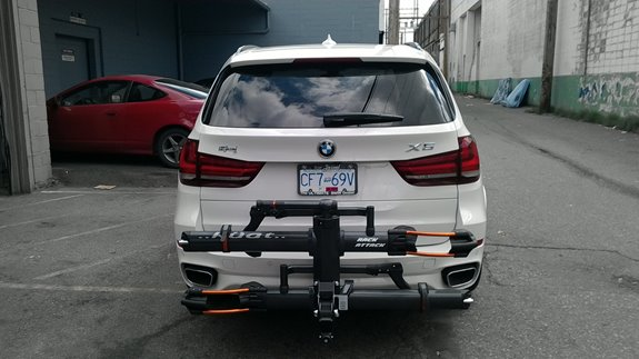 BMW X5 Bike Racks installation