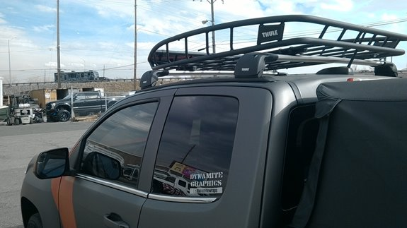 GMC Canyon Ext. Cab 4DR Base Roof Rack Systems installation