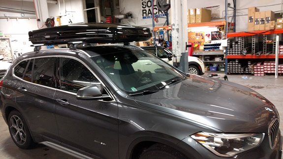 BMW X5 Base Roof Rack Systems installation