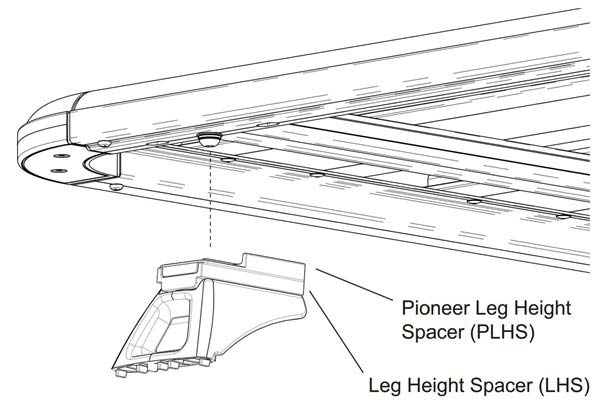Rhino-Rack Pioneer Leg Height Spacers Alternate Image Thumbnail