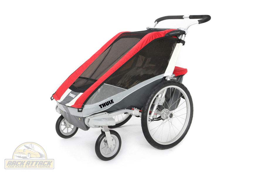 Chariot Cougar 1 with Strolling Kit Red