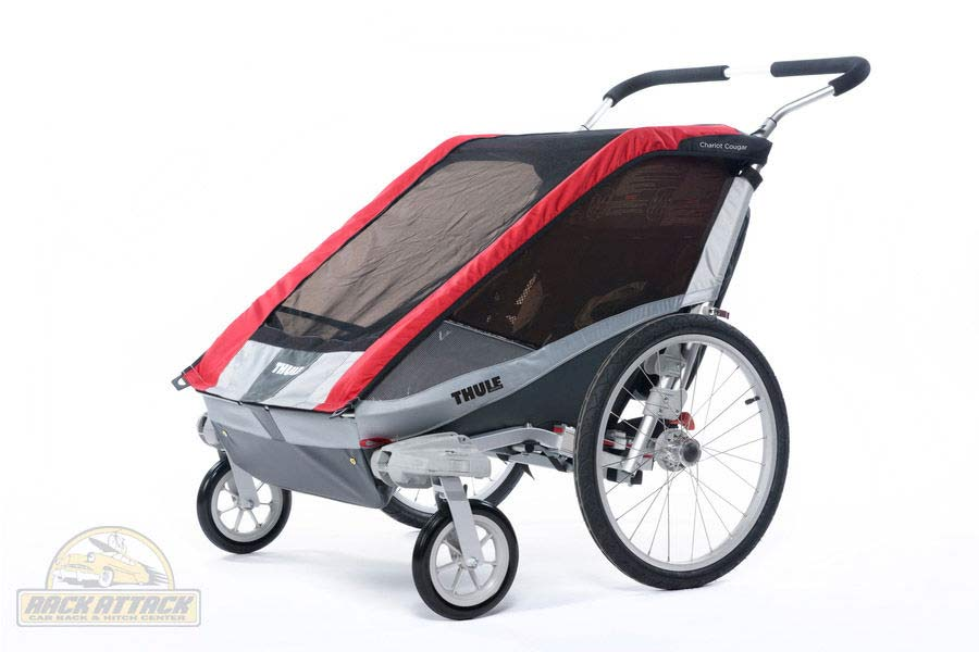 Chariot Cougar 2 with Strolling Kit Red