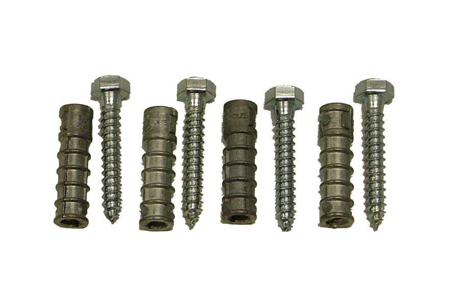 Saris 6263 Lag Bolts and Shields Anchor Kit