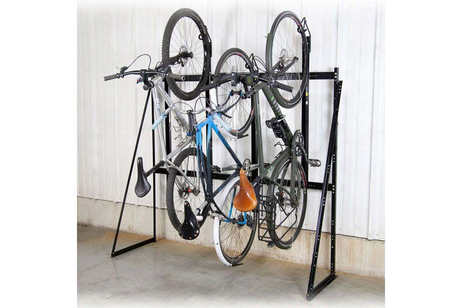 Saris Vertical 4 Bike Wall Rack Saris Bike Parking Racks