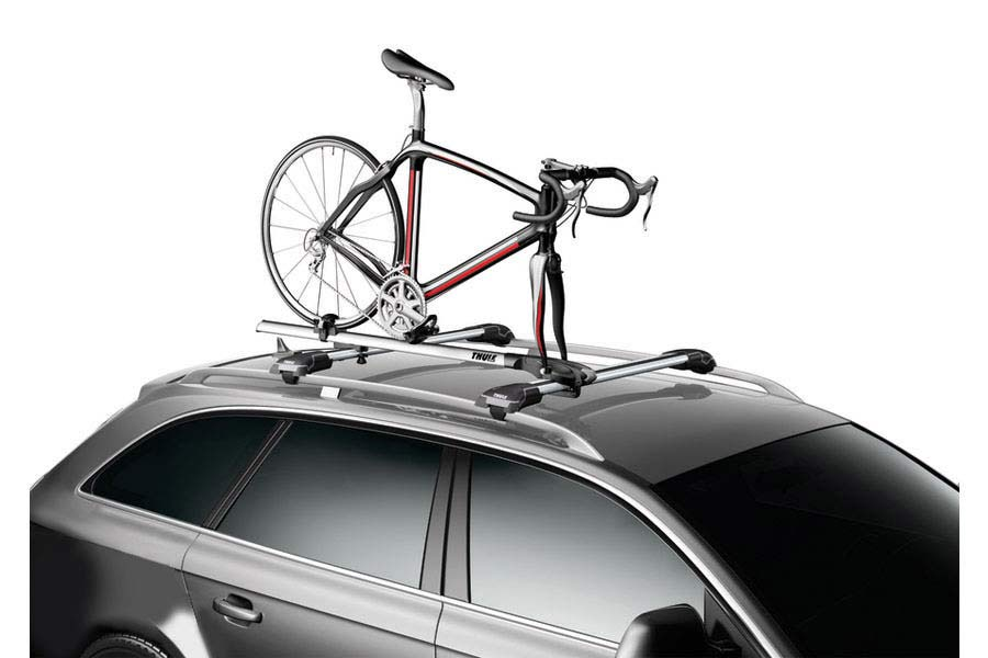 Roof Rack Carrier Rooftop Quick Installation Fork Mount On Luggage Rack Silver